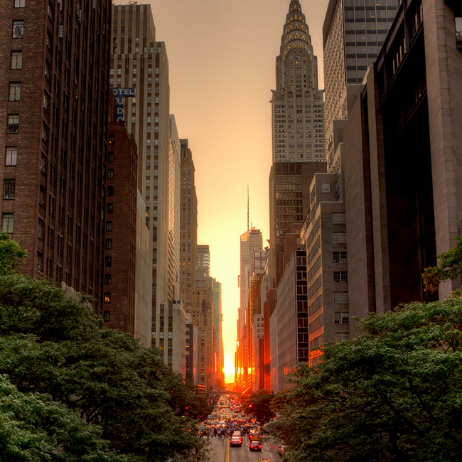 Manhattanhenge, July 2011