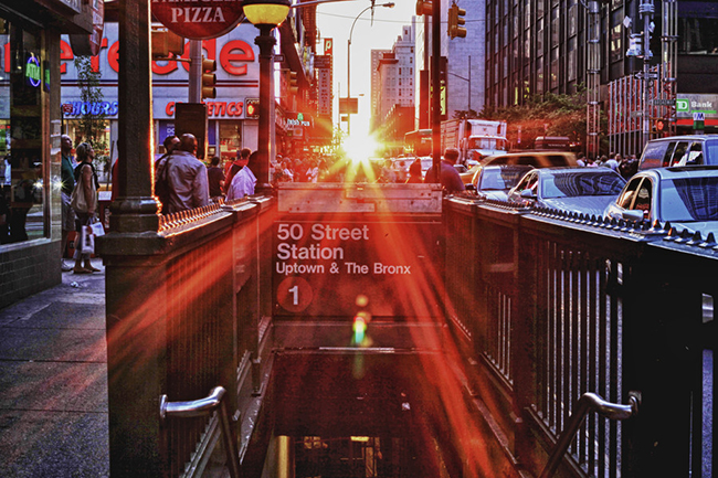 June sunset in Manhattan NYC by Photographer Jim Crotty